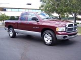 2003 Dark Garnet Red Pearl Dodge Ram 1500 SLT Quad Cab #35999081