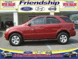 2005 Kia Sorento Radiant Red Metallic