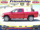 2007 Flame Red Dodge Ram 1500 Big Horn Edition Quad Cab 4x4 #36063305