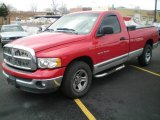 2002 Flame Red Dodge Ram 1500 SLT Regular Cab #3590404
