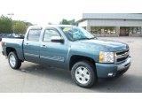 2010 Blue Granite Metallic Chevrolet Silverado 1500 LT Crew Cab 4x4 #36064526