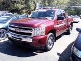 2009 Deep Ruby Red Metallic Chevrolet Silverado 1500 LS Extended Cab #36062859