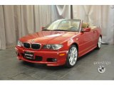 2006 Electric Red BMW 3 Series 330i Convertible #36062877