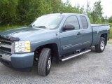 2009 Blue Granite Metallic Chevrolet Silverado 1500 LS Extended Cab 4x4 #36063428