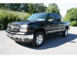 2005 Black Chevrolet Silverado 1500 Z71 Extended Cab 4x4 #36063976