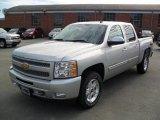 2011 Sheer Silver Metallic Chevrolet Silverado 1500 LT Crew Cab 4x4 #36064572