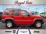 2002 Flame Red Jeep Liberty Sport 4x4 #36062913