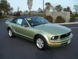 2006 Legend Lime Metallic Ford Mustang V6 Deluxe Convertible #3588814