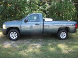 2009 Blue Granite Metallic Chevrolet Silverado 1500 Regular Cab 4x4 #36064059