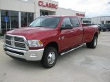 2010 Inferno Red Crystal Pearl Dodge Ram 3500 Big Horn Edition Crew Cab 4x4 Dually #36064095