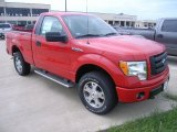 2010 Vermillion Red Ford F150 STX Regular Cab 4x4 #36064614