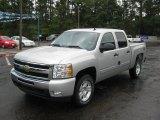 2011 Sheer Silver Metallic Chevrolet Silverado 1500 LT Crew Cab 4x4 #36064627