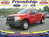 2010 Vermillion Red Ford F150 XL Regular Cab #36063075