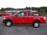 2010 Vermillion Red Ford F150 XL Regular Cab 4x4 #36063199