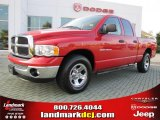 2005 Flame Red Dodge Ram 1500 SLT Quad Cab #36063636