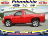 2008 Victory Red Chevrolet Silverado 1500 LS Regular Cab 4x4 #36063238