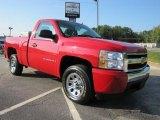 2007 Victory Red Chevrolet Silverado 1500 LS Regular Cab #36193429