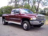 2000 Dark Garnet Red Pearl Dodge Ram 3500 SLT Extended Cab 4x4 Dually #36193439