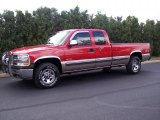 1999 Victory Red Chevrolet Silverado 1500 LS Extended Cab 4x4 #36193441