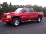 1999 Flame Red Dodge Ram 1500 Sport Extended Cab 4x4 #36193442