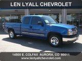 2004 Arrival Blue Metallic Chevrolet Silverado 1500 LS Extended Cab #36193181