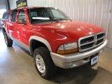 2004 Flame Red Dodge Dakota SLT Quad Cab 4x4 #36193728