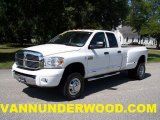 2008 Bright White Dodge Ram 3500 Laramie Quad Cab 4x4 Dually #36192992