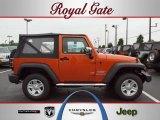 2010 Mango Tango Pearl Jeep Wrangler Sport 4x4 #36294584