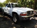 2004 Bright White Dodge Dakota SLT Quad Cab 4x4 #36332730