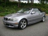 2004 Silver Grey Metallic BMW 3 Series 325i Convertible #36332950