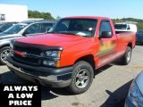 2004 Victory Red Chevrolet Silverado 1500 Regular Cab 4x4 #36346894