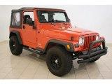 2006 Impact Orange Jeep Wrangler SE 4x4 #36347620