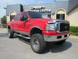 2002 Red Clearcoat Ford F250 Super Duty XLT Crew Cab 4x4 #36347499