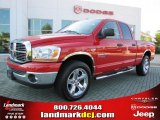 2006 Flame Red Dodge Ram 1500 Big Horn Edition Quad Cab #36347215