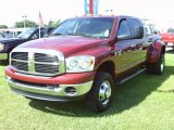 2007 Inferno Red Crystal Pearl Dodge Ram 3500 SLT Mega Cab 4x4 Dually #36347766