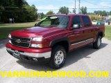 2006 Sport Red Metallic Chevrolet Silverado 1500 Z71 Crew Cab 4x4 #36347047