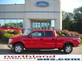 2010 Vermillion Red Ford F150 XLT SuperCrew 4x4 #36347052