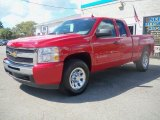 2010 Victory Red Chevrolet Silverado 1500 LS Extended Cab 4x4 #36347073