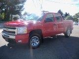 2010 Victory Red Chevrolet Silverado 1500 LT Crew Cab 4x4 #36347074