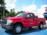 2010 Vermillion Red Ford F150 XL Regular Cab #36406279