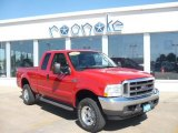 2003 Red Clearcoat Ford F250 Super Duty Lariat SuperCab 4x4 #36406348
