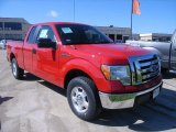 2010 Vermillion Red Ford F150 XLT SuperCab #36406957