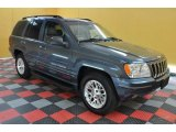 2002 Steel Blue Pearlcoat Jeep Grand Cherokee Limited 4x4 #36406668