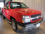 2005 Victory Red Chevrolet Silverado 1500 Regular Cab 4x4 #36406701