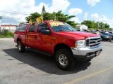 2003 Red Clearcoat Ford F250 Super Duty XLT Crew Cab 4x4 #36407022