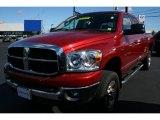 2007 Inferno Red Crystal Pearl Dodge Ram 1500 SLT Mega Cab 4x4 #36407062