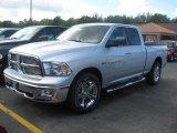 2011 Bright Silver Metallic Dodge Ram 1500 Big Horn Quad Cab 4x4 #36406775