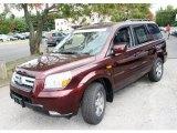 2007 Dark Cherry Pearl Honda Pilot EX-L 4WD #36406242