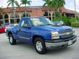 2004 Arrival Blue Metallic Chevrolet Silverado 1500 LS Regular Cab #36406264