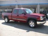 2005 Sport Red Metallic Chevrolet Silverado 1500 Z71 Extended Cab 4x4 #36479966